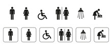 WC Symbole, Signs, Icons, Sani...