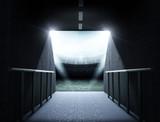Fototapeta Do przedpokoju - stadium tunnel