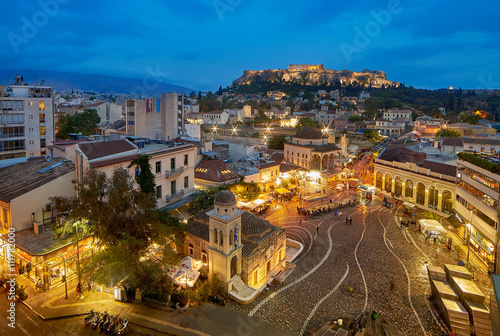 Foto op Aluminium Athene Athens at Night