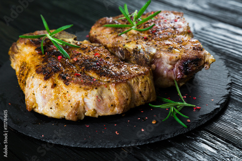 Vászonkép  Pork steak grilled