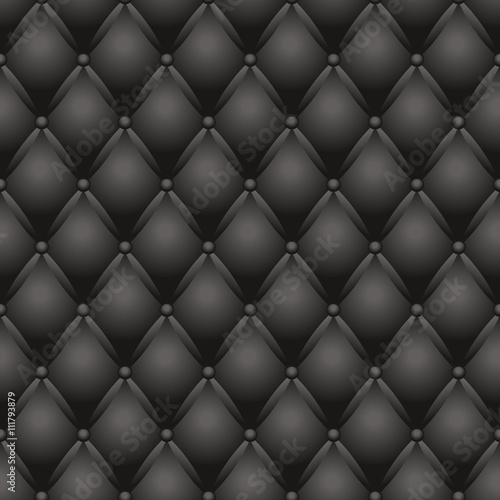 Deurstickers Leder black couch texture vector illustration