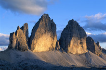 Eroded Mountains In Italy.