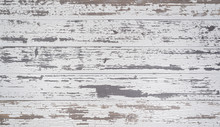 White, Weathered Wooden Planks Or Wall