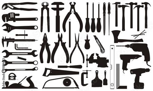 Workshop Tools vector set - fototapety na wymiar