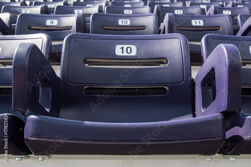 Plakat Single Purple Stadium Seat