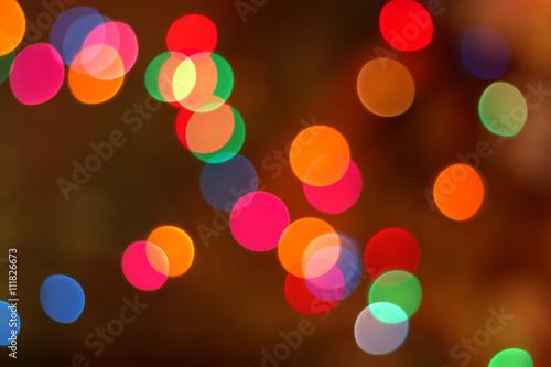 Fotografie, Obraz  Blured vánoční světla