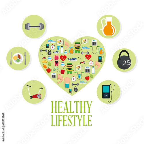 Healthy lifestyle design. bodycare icon.  Colorful illustration #111835242