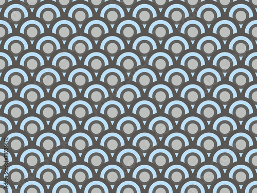 Art deco seamless pattern. Pattern with circles. Vector illustration.