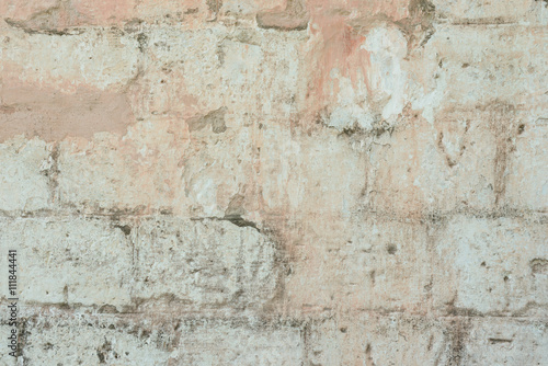 Foto auf AluDibond Alte schmutzig texturierte wand Brick texture with scratches and cracks