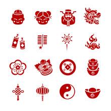 Chinese New Year Icons - Illus...