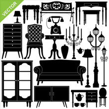 Antique Furniture Silhouettes ...
