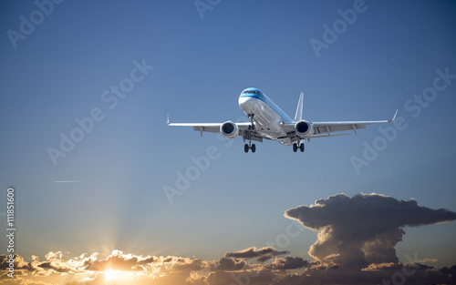 Photo  Airplane with beautiful sky