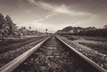 Vintage Railroad And Color Tone Effect