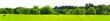 Leinwanddruck Bild Kuhwiese am Waldrand im Frühling