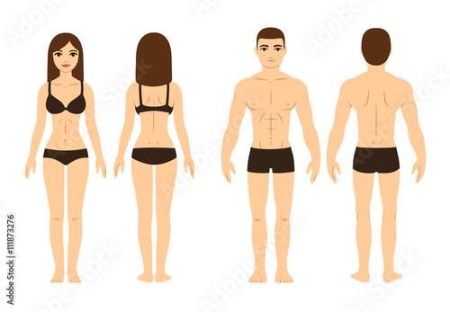 Láminas  Male and female body