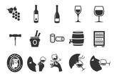 Wine icons set - 111877214