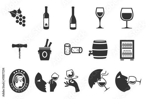 Fotografía  Wine icons set