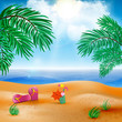 Vector beach landscape