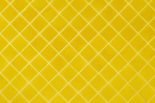 Yellow Mosaic Tiles Texture With White Filling