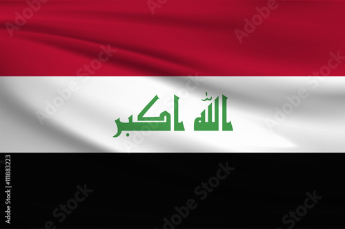 Fotografering  National flag of Iraq