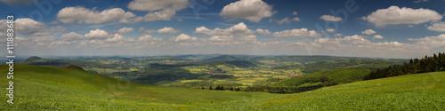 Canvas Prints Hill Panorama der Rhön vom Gipfel der Wasserkuppe