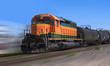 BNSF Freight Train Locomotive, USA