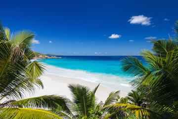 Panel Szklany Popularne Idyllic beach in Seychelles