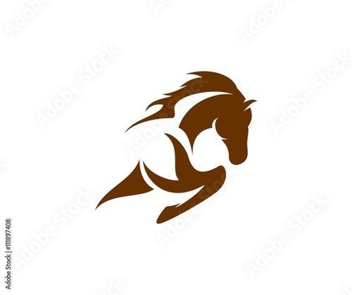 Horse logo Canvas Print