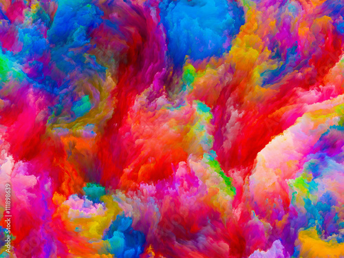 Obraz Colors Advancement - fototapety do salonu