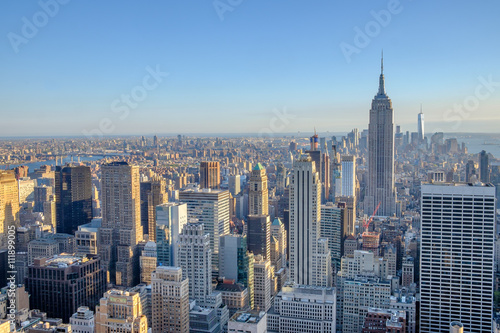 Fototapety, obrazy: Views of Manhattan and south towards lower manhattan from midtow