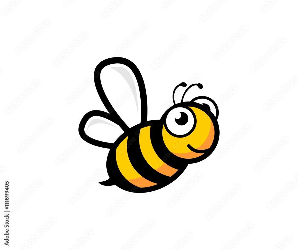 Fototapety, obrazy: Bee logo