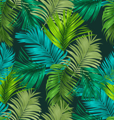 Fototapeta Do biura foliage seamless pattern