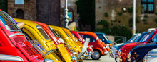 Vintage Car With Bright Colors
