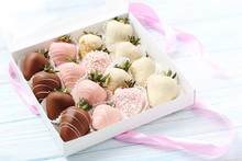 Strawberries Covered In Chocol...