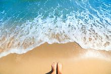 Sea Foam, Waves And Naked Feet...