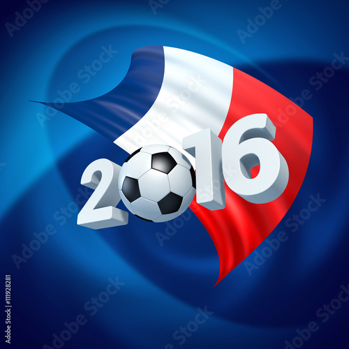 Frankreich Fussball 2016 Poster