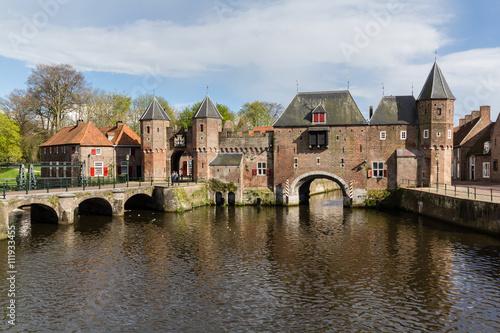 Amersfoort Medieval town wall Koppelpoort and the Eem river Wallpaper Mural