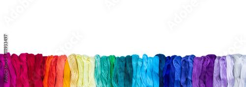 Fotografia, Obraz Colorful mouline isolated on white