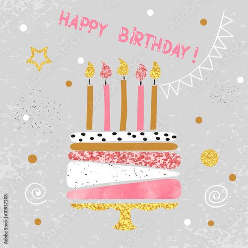 Photo  Happy Birthday card design