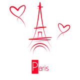 Fototapeta Paryż - Paryż - Wieża Eiffla