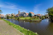 Panoramic Shot Of Village Marken In Netherlands