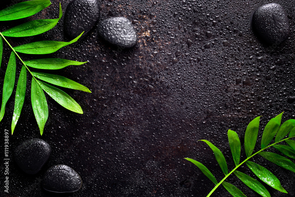 Fototapeta Dark spa background