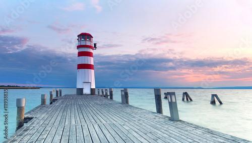 Zdjęcie XXL Latarnia morska Podersdorf nad jeziorem Neusiedl