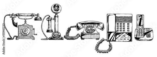 Fotografía  evolution set of telephone