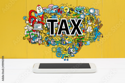 Tax concept with smartphone - 111942008