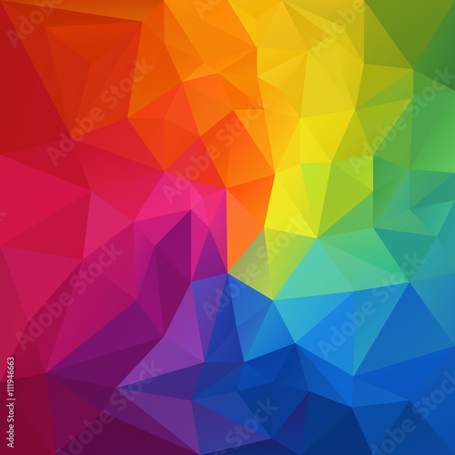 vector abstract irregular polygon background with a triangular pattern in full c Плакат
