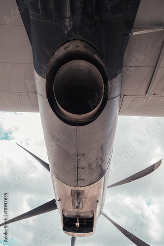 Fotografia, Obraz  Turboprop Exhaust