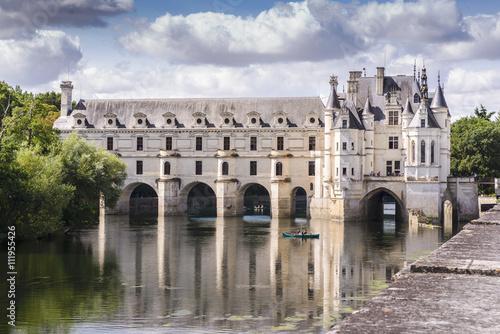Montage in der Fensternische Schloss Chateau de Chenonceau
