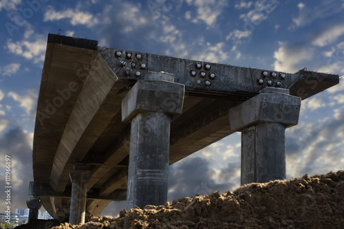 overpass within construction Wallpaper Mural