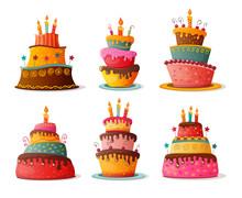 Birthday Cakes Set